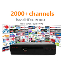DHL free shopping discount 2000+channes lArabic IPtv Box haosiHD Stable Server TV Receiver Support UK France Europe US Italy