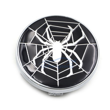 4pcs/Set 60mm Car Emblem Wheel Hub Caps Centre Cover Caps Spider Logo for Audi Toyota Volvo in Black Color