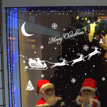 Christmas Decoration Christmas Deer Snow Glass Wall Stickers Window Stickers House and Store Glzed Door Decor Stickers