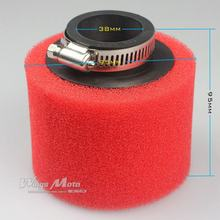 38mm  Straight Foam Air Filter Sponge Cleaner 50cc Moped Scooter CG125 150cc Dirt Bike Motorcycle RED
