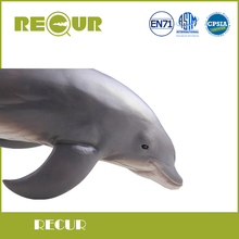 Recur Toys Original Design Dolphin Model Highly Simulation Soft PVC+PP Cotton Sea Life Animal Toys Gift For Kids Early Eduction(China)
