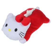 40*23CM Kawaii Big Hello KITTY Home & Bathroom plush toy Case Box Container Towel Napkin Papers Bag Holder Box Case Pouch(China)