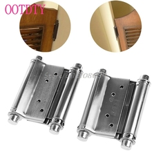 "2Pcs 3"" Stainless Steel Inch Double Action Spring Hinge Saloon Cafe Door Swing #S018Y# High Quality"
