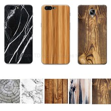For One plus oneplus 5/five/3/3t/three/t Protective Wooden Pattern PC Mobile Phone Back Case Marble Stone Wood Paint Cover Coque