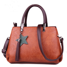 S.P.L. 2017 new fashion women bag trendy solid women leather handbags with tassel leadies messenger bags shoulder women bag(China)