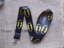 Hot Sale! 10 pcs Popular Batman  Key Chains Mobile Cell Phone Lanyard Neck Straps Children  Favors SZ-215