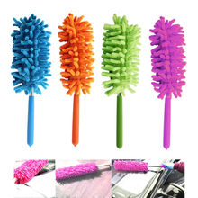 Handy Telescoping Microfiber Duster Extendable Cleaning Dirt Dust Brush Home Office Car Tool 4 Colors(China)