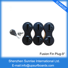 Free Shipping 5 Sets sales Surfboard FCS Fins Plugs 9 Degree FCS Fin Plug Fusion Fin Plug(China)