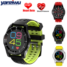 Yanziwu Smart Watch GS8 Bluetooth 4.0 SIM Card Call SMS Reminder Heart Rate Blood Pressure monitor Pedometer Smartwatch(China)