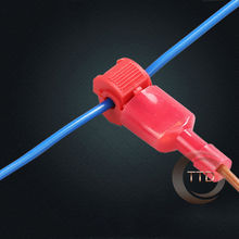 freeship 20setsx RED 22-18 AWG T-TAPS &   MALE WIRE CONNECTORS SPLICE ELECTRICAL WIRING Insulated Wire Terminal