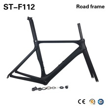 Buy SmileTeam Ultraligh Aero Carbon Fiber Road Bike Frame UD Matte Carbon Racing Bicycle Frameset Frame Fork Headset Seatpost for $332.88 in AliExpress store