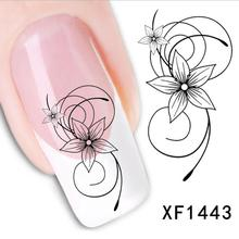 XF1443 Flower Design Fashion Beauty Nail Art Water Transfer Nail Sticker nail tools nail art decorations