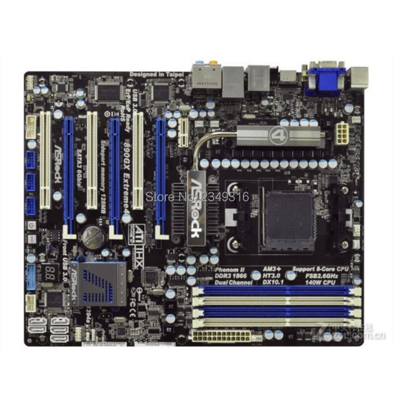 For ASRock 890GX Extreme4 R2.0 AM3+ Original Used Desktop Motherboard Socket AM3 DDR3 SATA2 USB2.0