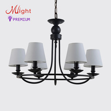 6 Arms Modern Simplicity Chandelier Simple Fabric Bedroom Lamp Traditional Style Chandelier For Living Room