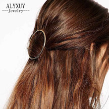 New fashion hair jewelry hair wear easy design metal round hairpin gift for women girl H356