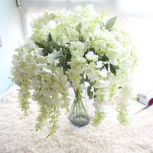 80cm Silk Artificial Hanging Flower Silk Wisteria Plants Fake Flower Decorative Flower Wreaths for Wedding Home Decor(China)