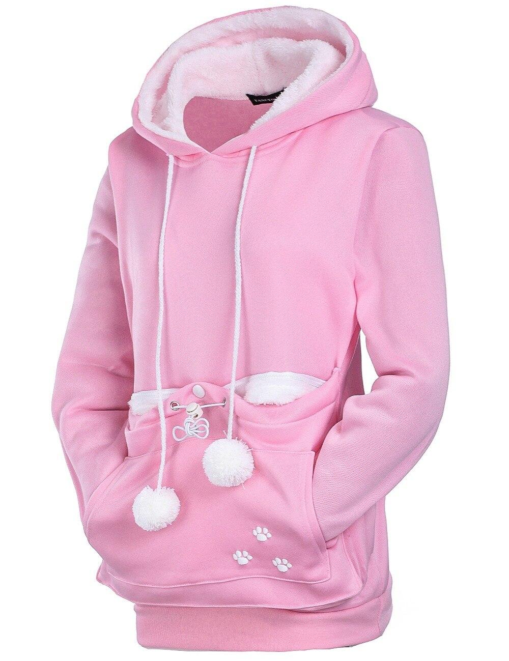 17 New Cartoon Hooded Hoodies Lover Cats Kangaroo Dog Hoodie Long Sleeve Sweatshirt Front Pocket Casual Animal Ear Hoodie 18