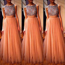 Hot Tulle Sequins Formal one-piece dresses Ball Gown Evening Party Dress 2016 fashion new style