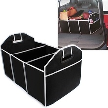 1PC Collapsible Black Car Trunk Organizer Toys Food Storage Truck Cargo Container Bags Box Car Stowing Styling Auto Accessories