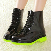 Plastic Rain Boots Female Boots Korean Style 2017 New Women's Shoes Fashion Rain Boots Water Shoes
