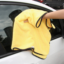 Large Size Microfiber Car Cleaning Cloths Car Care Microfibre Wax Polishing Detailing Towels Washing Drying Cloths 92*56cm(China)
