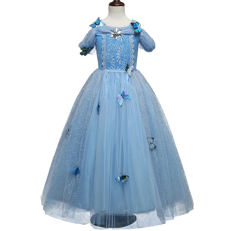 2018-Cinderella-Dresses-For-Girls-Blue-Princess-Party-Dress-With-Butterfly-Kids-Ball-Gown-Cosplay-Costume (2)