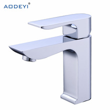 Solid Brass Bathroom Solid Basin Faucet Cold and Hot Water Mixer Single Handle Tap