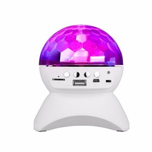 Universal Disco DJ Bluetooth Speaker With Built-In Light Show Stage Studio Effects Lighting RGB Color Changing, LED Crystal Ball