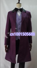 Who is Doctor Cosplay The 11th Dr. Costume Dark Purple Wool Trench Coat High Quality Fast Shipping