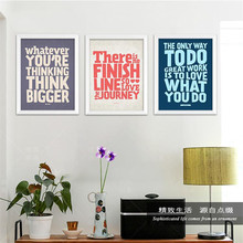 Frameless Modern Inspirational English Words Art Print Painting Poster, Wall Picture for Home Decoration, Wall Decor DP0002(China)