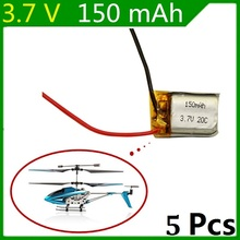 3.7V 150mAh Syma S107 S107G 1S 3.7V 150mAh Li-Po Battery 3.7V Helicopter Part Free shipping 5PCS/lot