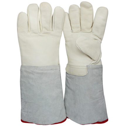 Anti- low temperature of liquid nitrogen gloves cold cold LNG vapor 40CM add antifreeze industrial protective gloves<br>
