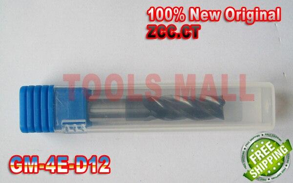 2pcs 12mm Original ZCC.CT GM-4E-D12.0 Cemented  Flat end mills  Carbide Milling Tools CNC Router bitsD12*25*D12*75<br>