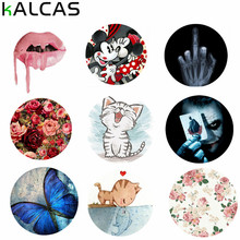 KALCAS Universal Cute Lovely Pop Phone Holder Clasp Mount Grip Stand Finger Ring For IPhone 5 6 7 For Andriod Mobile Phone