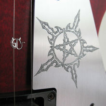 Free shipping custom guitar accessory hand engraving aluminum LP pickguard for lp guitars star totem pattern can be customized