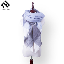 2017 New Fashion Winter Women Scarf Cashmere Poncho For Women Pashmina Bandana Female Warm Crochet Ladies Plaid Scarf