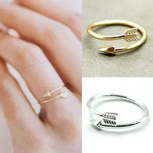 JETTINGBUY Velishy 1pc Alloy Bijoux Femme One Direction Tiny Arrow Wrap Rings Pink Knuckle Ring Women Men Jewelry Wedding Gift(China)
