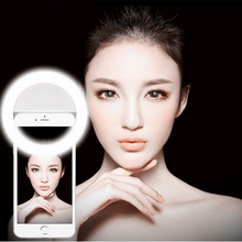 Portable Universal Selfie Ring Flash Led Light Lamp Mobile Phone Fish Eye Lens Led Selfie Lamp Ring Flash for Iphone Samsung HTC