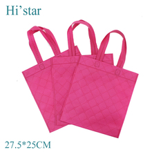27.5*25cm 20pieces webshop reusable shopping bag eco foldable fabric non woven bag accept custom print logo(China)