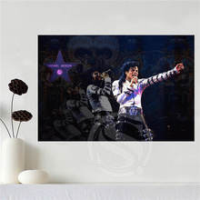 Custom canvas poster Art Michael Jackson poster Home Decoration cloth fabric wall poster print Silk Fabric Print SQ0604-P92
