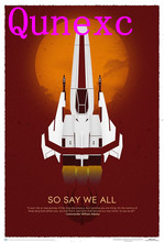 Qunexc- 24X36 INCH / ART SILK POSTER / Battlestar Galactica 10th Anniversary Art Print Wall Sticker