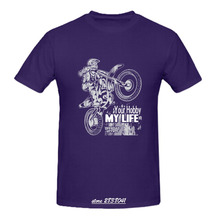 RTTMALL Black White Men T Shirts Designed locomotive car Young Guy Top Screw Neck Motocross Your Hobby My Life Men Team T-shirts(China)