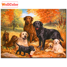RUBOS Rhinestone Diamond painting mazayka 5D DIY dogs rottweiler natural 3D pattern diamond embroidery mosaic room picture