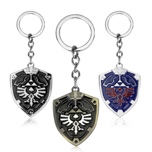 Buy Legend Zelda Enamel Key Chain Trinket Hylian Shield Keychain Key Ring Car Key Holder Chaveiros Christmas Gift Fans for $1.25 in AliExpress store