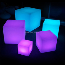 25CM outdoor indoor Magic CUBE waterproof rechargeable LED night light luminous cube table lamp for wedding party bedroom