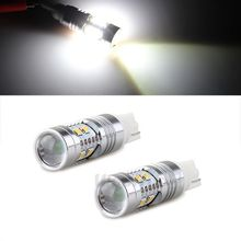 Factory Direct Sale!! 2pcs AX 5G T10 LED Cree 50W 12V 10-LEDs Back Up Reverse Replacement Bulbs Super Bright White Light