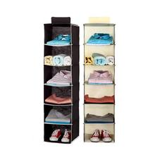 Household Wardrobe Clothes Hanging Bag 6 Shelf Shoe Underwear Cosmetic Organizer Rack Storage Save Place Closet Home Keeper