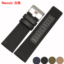 Canvas with a nylon strap 26 mm man band Exercise strap Sport watchbands Replace DZ-1295 the watches accessories free shipping(China)