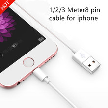 1/2/3 Meter TOP QUALITY 8 pin To USB Cable Data charger charging cables cord for iphone 7 5 5s 5c 6 6s X plus,Mobile phone cable