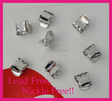 "20PCS 1.5cm 3/5"" Silver Finish Oval Pattern Plain Metal Hair Claws clips at lead free and nickle free,claws jaw hair clips Grips"